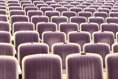 Comfortable seats in theatre. Rows of comfortable seats in theatre Royalty Free Stock Images