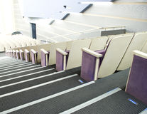 Comfortable seats in theatre. Rows of comfortable seats in theatre stock photography