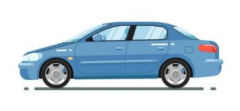 Comfortable sedan isolated on white background Royalty Free Stock Image