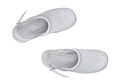Comfortable shoes. A pair of white professional comfortable shoes isolated over white Stock Images