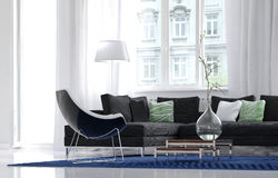 Comfortable simple living room interior Stock Images