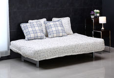 Comfortable sofa bed Stock Images