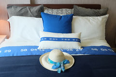 Comfortable soft bed in room Royalty Free Stock Photo