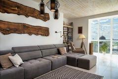 Comfortable spacious living room Stock Photos