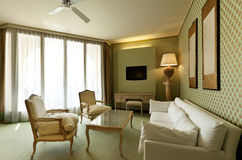 Comfortable suite, lounge. Interior luxury apartment, comfortable suite, lounge Royalty Free Stock Images