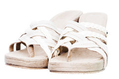 Comfortable summer sandals Royalty Free Stock Image