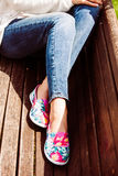 Comfortable summer shoes Royalty Free Stock Images