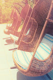 comfortable swings. Summer travel and vacation concept. Vintage filtered image Royalty Free Stock Image