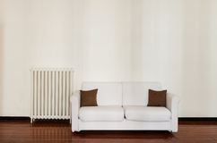 Comfortable white sofa Royalty Free Stock Photos