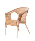 Comfortable wicker chair in a studio Stock Photo