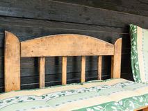Comfortable wooden bench Stock Image
