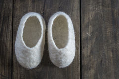 Comfortable wool Baby Booties Stock Photography