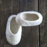 Comfortable wool Baby Booties Stock Images