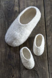 Comfortable wool home shoes Royalty Free Stock Photos