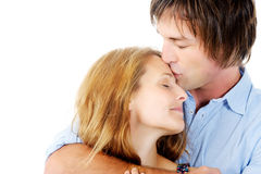 Comforting kiss Royalty Free Stock Photo