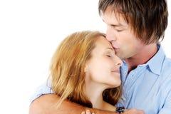 Comforting kiss Royalty Free Stock Photo