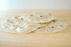 Pile of Fresh Tortillas Stock Photos