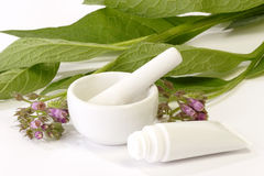 Comfrey Ointment Stock Photo