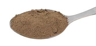 Comfrey Root Powder In A Spoon Royalty Free Stock Image