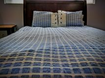 Comfy bed. Bnb travels Hideaway Stock Images