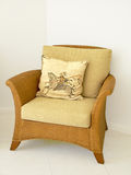 Comfy Chair. Relaxing, comfortable cane chair Royalty Free Stock Photography
