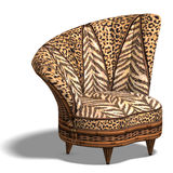 Comfy chair with african design Stock Photo