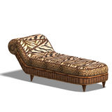 Comfy chaiselon with african design Royalty Free Stock Photos