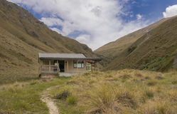 Comfy Mountain Hut. Small mountain hut in the mountains of New Zealand Royalty Free Stock Photography