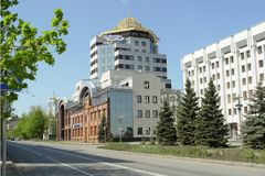 Comió si en la calle Molodogvardeyskaya, Samara foto de archivo
