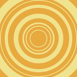Comic abstract background. Yellow circle on orange backdrop. Vector. stock illustration