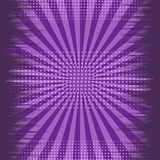 Comic abstract explosive purple background. With rays radial and halftone humor effects. Vector illustration royalty free illustration