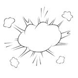 Comic action bubble on white background  illustration. Exclamation or explosion speech bubble. Stock Images