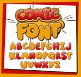 Comic Alphabet. Alphabet for comics, pop art, illustrations, flyers, posters, comics and banners Stock Image