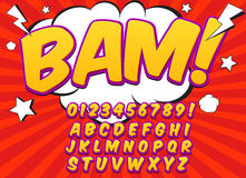 Comic alphabet set. Letters, numbers and figures. For kids illustrations websites comics banners royalty free illustration
