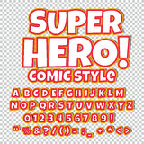 Comic alphabet set. Letters, numbers and figures for kids` illustrations, websites, comics, banners. Comic alphabet set. Letters, numbers and figures for kids` Stock Photography