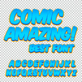 Comic alphabet set. Letters, numbers and figures for kids` illustrations, websites, comics, banners. Comic alphabet set. Letters, numbers and figures for kids` Royalty Free Stock Photos