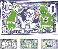 Comic American dollar. The increase in nominal Royalty Free Stock Image