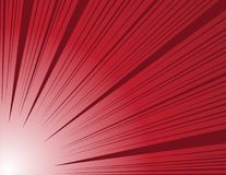 Free Comic And Manga Books Speed Lines Background. Red Vector Illustration Royalty Free Stock Image - 99594246