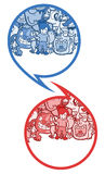 Comic art. Creative design of art comic symbols vector illustration
