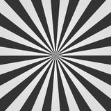 Black and white Sunburst pattern. Comic background. Vector illustration. stock illustration