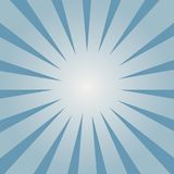 Comic background. Blue Sunburst pattern. Rays directed inside the flash. Vector. Comic background. Blue Sunburst pattern. Rays directed inside the flash. Vector Stock Photography