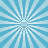 Comic background. Blue Sunburst pattern. Sun rays abstract backdrop. Vector. royalty free stock photography