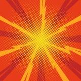 Comic background. Comic pop art background lightning blast halftone dots. Cartoon Vector Illustration Royalty Free Stock Photo