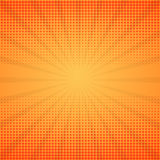 Comic background. Halftone vector illustration. With rays royalty free illustration