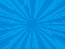Comic background. Pop art comic background lightning blast halftone dots. Cartoon Vector Illustration on blue Royalty Free Stock Images