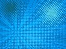 Comic background. Pop art comic background speed beams halftone dots. Cartoon Vector Illustration on blue Royalty Free Stock Photo