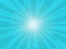 Comic background. Pop art comic background lightning blast halftone dots. Cartoon Vector Illustration on blue Royalty Free Stock Photos