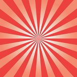 Comic background. Red Sunburst pattern. Sun rays abstract backdrop. Vector. Royalty Free Stock Image