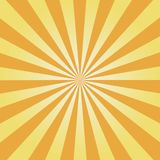 Comic background. Yellow Sunburst pattern. Sun rays abstract backdrop. Vector. Royalty Free Stock Image