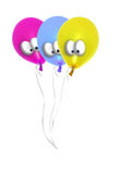 Comic balloons. On a white background royalty free stock photo